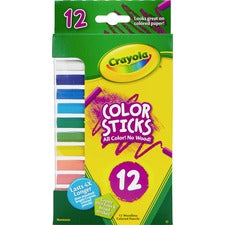 Crayola 12 Color Sticks Woodless Colored Pencils