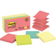 Post-it® Pop-up Notes - Cape Town Color Collection and Canary Yellow