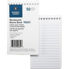 Business Source Wirebound Memo Books