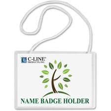 C-Line Biodegradable Hanging Style Name Badge Holder Kit