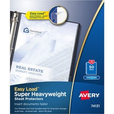 Avery® Super-Heavyweight Sheet Protectors - Acid-free, Archival-safe, Top-loading