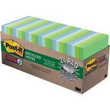 Post-it® Super Sticky Notes Cabinet Pack - Bora Bora Color Collection