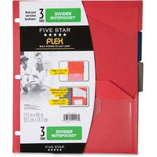 Five Star Flex 3 Tabs Divider Notepockets