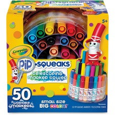 Crayola Pipsqueaks Marker Tower 50 mini markers washable