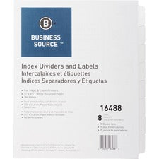 Business Source Unpunched Index Dividers Set