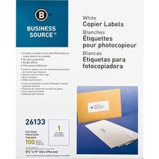 "Business Source 8-1/2""x11"" Copier Labels"