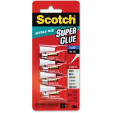Scotch Super Glue Liquid - 0.05 grams Single-Use Tubes