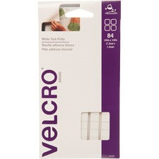 VELCRO Brand White Tac Putty 1/2in Squares. White . 84 ct.