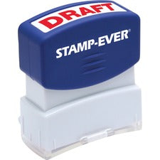 Stamp-Ever Pre-inked Red DRAFT Stamp