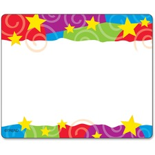 Trend Stars & Swirls Colorful Self-adhesive Name Tags