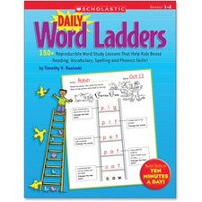 Scholastic Grade 1-2 Daily Word Ladders Workbook Printed Book
