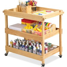 Early Childhood Resources Birch Hardwood Utility Cart - Natural