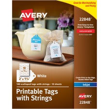 Avery® Printable Tags -Scallop Edge