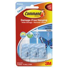 Command Clear Window Hooks with UV Strips, Micro, 0.5lb Capacity, 3 Pack