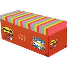 Post-it® Super Sticky Notes Cabinet Pack - Marrakesh Color Collection