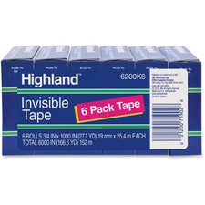 Scotch Highland Matte-finish Invisible Tape