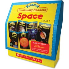 Scholastic Res. Grade 1-2 Vocabulary Readers Space Books Printed Book by Liza Charlesworth