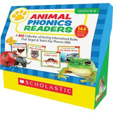 Scholastic Res. Grade K-2 Animal Phonics Reader Book Set Printed Book by Liza Charlesworth