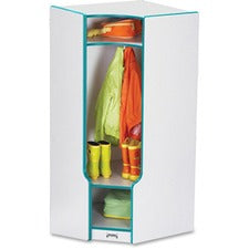 Rainbow Accents 3-double Hooks Step Corner Coat Locker