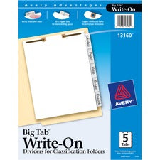 Avery® Big Tab Write & Erase Dividers for Classification Folders