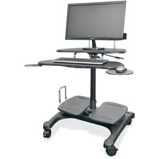 Kantek Mobile Height Adjustable Computer Workstation w/ LCD Mount