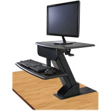 Kantek Desk Clamp On Sit To Stand Workstation Black