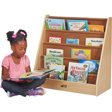 ECR4KIDS Birch Single-sided Fabric Book Display
