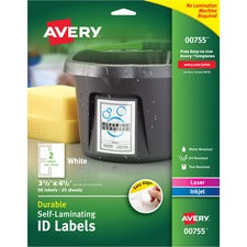 Avery® Easy Align Self-Laminating ID Labels