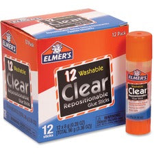 Elmer's Clear Repositionable Glue Sticks