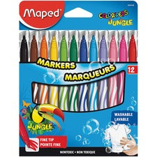 Helix Fine Tip Washable Markers