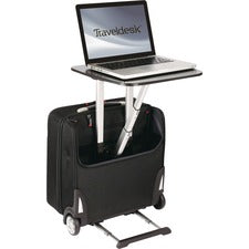 TravelDesk Business Case Carrying Case (Roller) Notebook, Travel Essential - Black