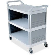 Rubbermaid Commercial Enclosed End Panels Utility Cart