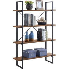 Lorell SOHO 4-Shelf Metal Frame Bookcase