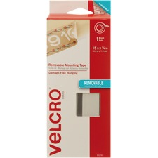 VELCRO Brand Removable Mounting Tape 15ft x 3/4in Roll. White