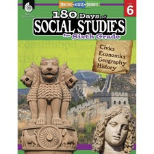 Shell Education 180 Days Social Studies Workbook Printed Book
