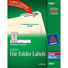 Avery® File Folder Labels - TrueBlock - Sure Feed