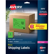 Avery® Neon Labels