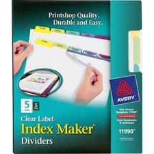 Avery® 5-Colored Tabs Presentation Divider
