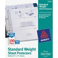 Avery® Stan+H159dard-Weight Sheet Protectors