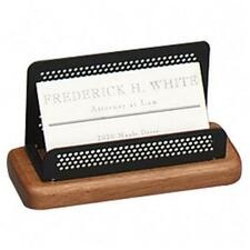 Rolodex Distinctions Wood/Metal Business Card Holder