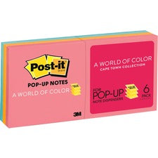 Post-it® Pop-up Notes - Cape Town Color Collection