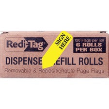 Redi-Tag Sign Here Arrow Flags Dispenser Refills