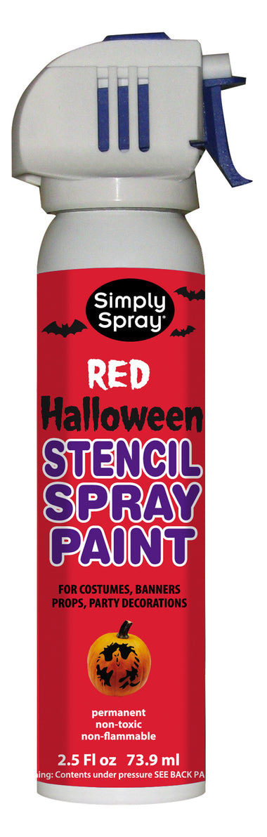 red halloween stencil paint 25oz can