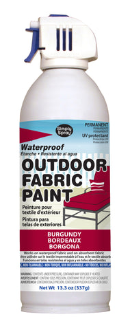 Burgundy Outdoor Fabric Paint- 13.3 oz cans