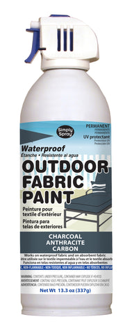 Charcoal Outdoor Fabric Paint- 13.3 oz cans