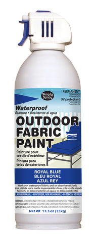 Royal Blue Outdoor Fabric Paint- 13.3 oz cans