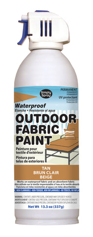 Tan Outdoor Fabric Paint- 13.3 oz cans
