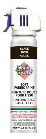 Black Soft Fabric Paint - (2.5 oz Cans)