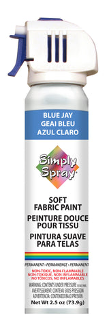 Blue Jay Soft Fabric Paint- PMS 2727 (2.5 oz Cans)