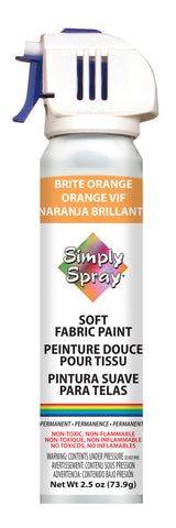 Brite Orange Soft Fabric Paint- PMS 1505 (2.5 oz Cans)